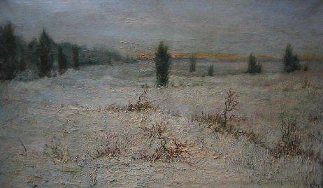 Zilven - Zilvenseheide → 'sneeuwveld' geschilderd door Henri Kley.
