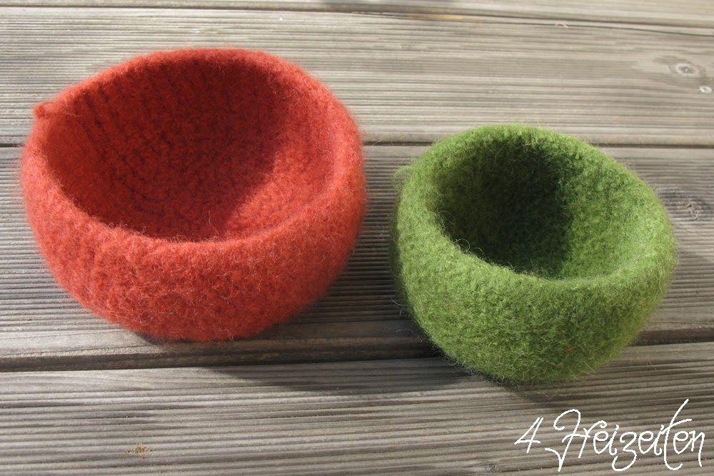 Photo of Crochet: basket made of felt wool