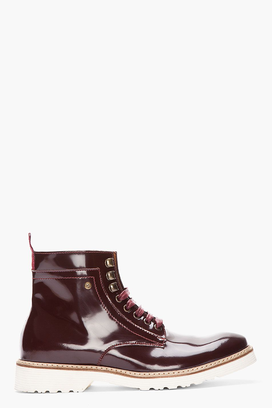 Clearance Excellent Countdown Package For Sale Leather Boots - Burgundy Alexander McQueen Outlet New Arrival zOV0B