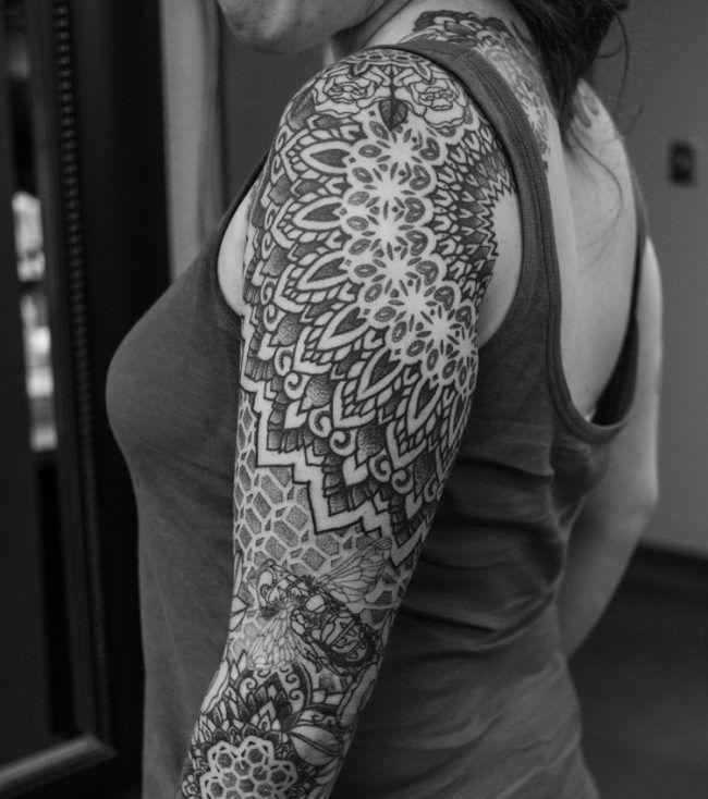 mandala tattoo schulter arm rmel my references. Black Bedroom Furniture Sets. Home Design Ideas