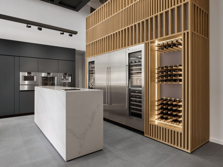 gaggenau showroom by einszu33 chicago illinois retail design rh pinterest ca