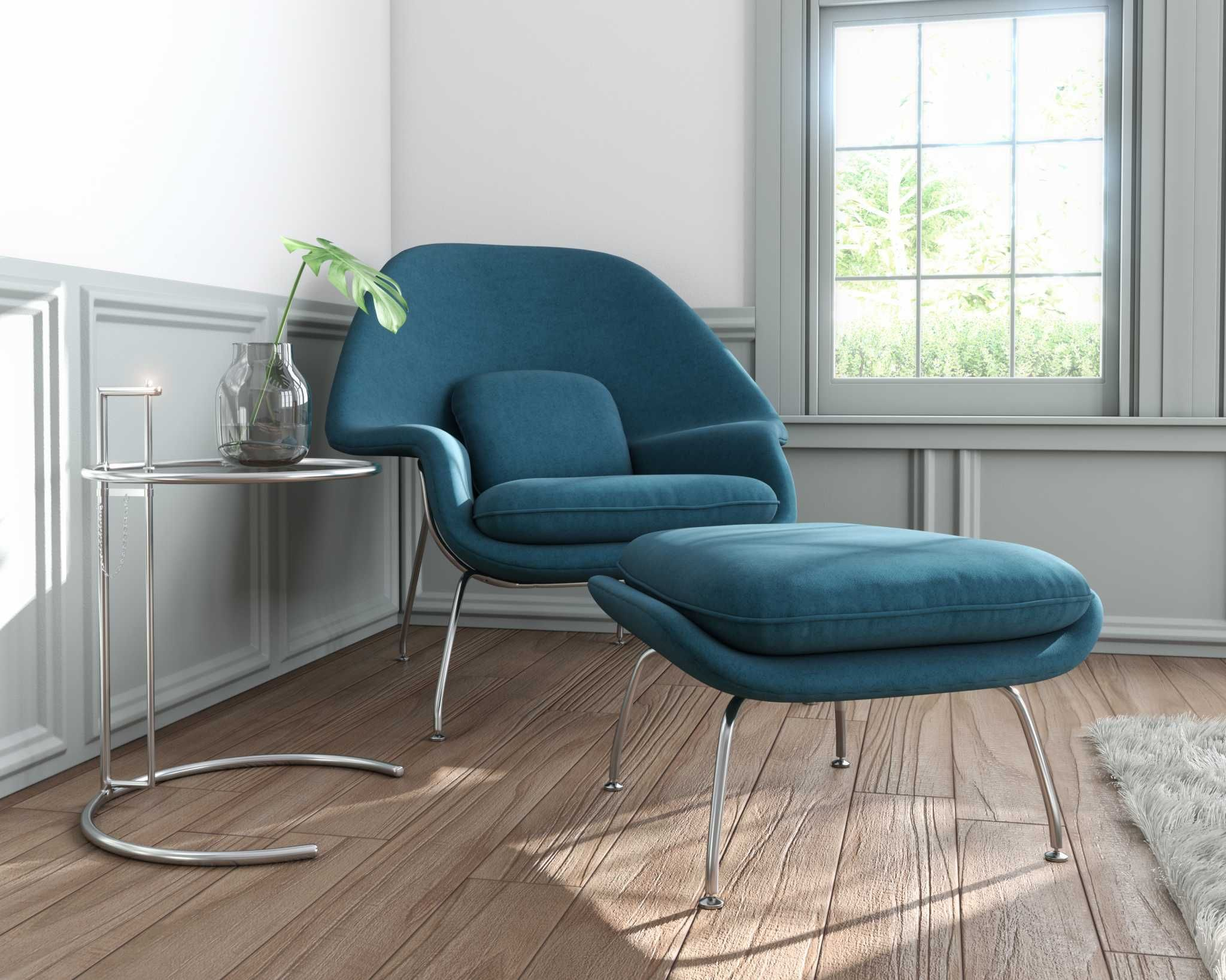 Womb Chair And Ottoman - Rove Concepts Rove Classics Mid Century