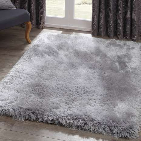 Silver Jewel Shaggy Rug Bedroom In 2019