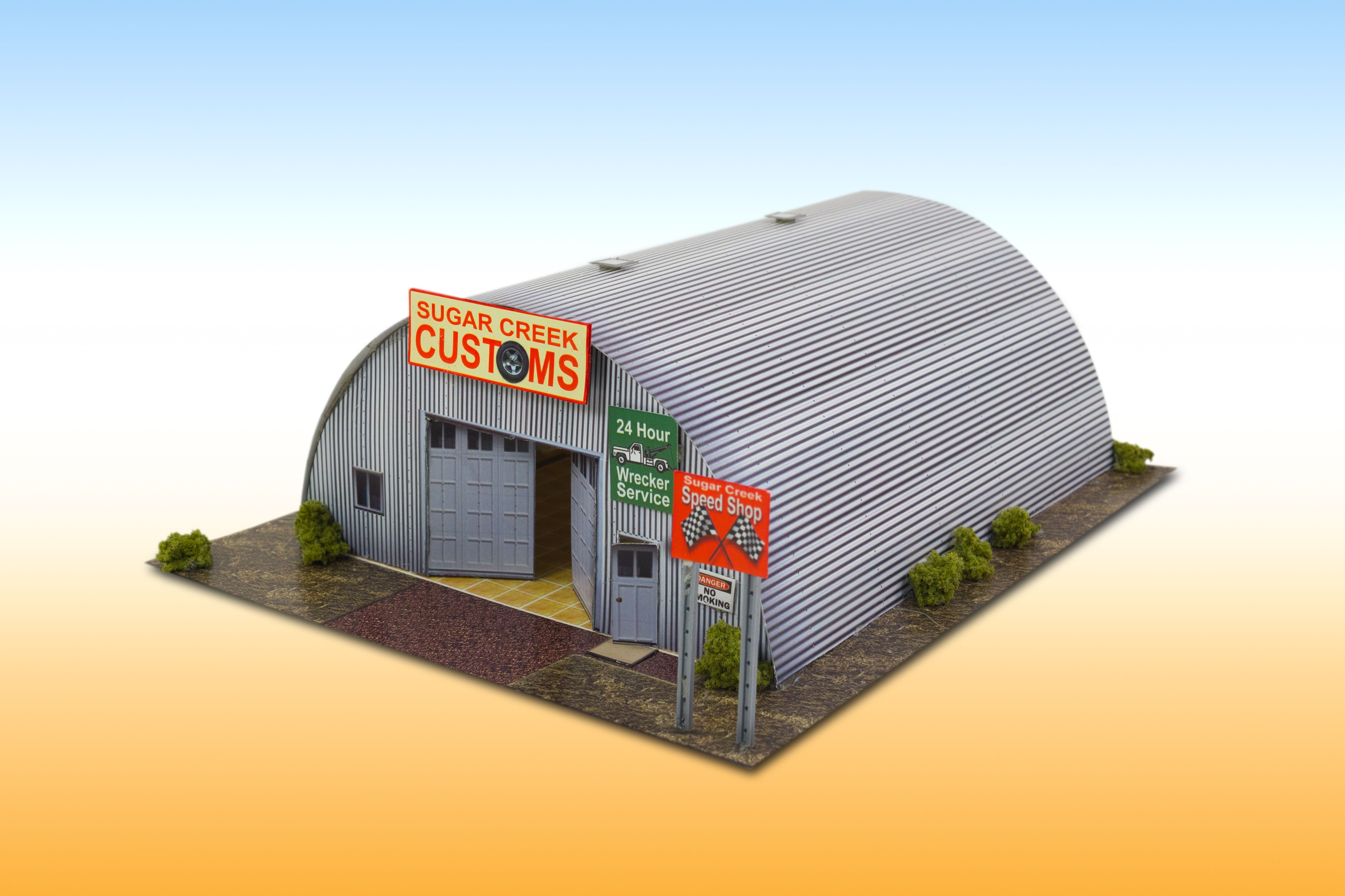 Quonset hut photo real scale building kit is a complete for Model house building materials