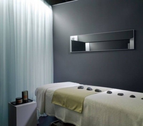 Massage Therapy Room Design Ideas Part - 28: Massage Therapy Room - Grey Love The Mirror