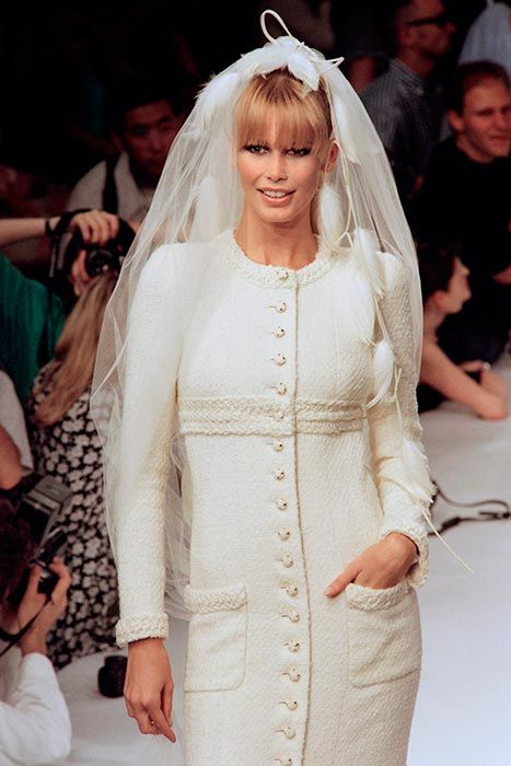 Photo of And the bride wore Chanel: 9 celebrities who wore Karl Lagerfeld's wedding dresses