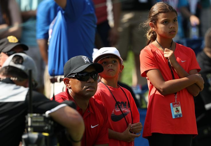 Photos of Those Cuties Sam and Charlie — Tiger Woods' Kids ...