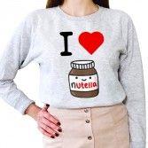 Sweat Femme I LOVE NUTELLA   mom   Pinterest   De paris 8810153f7e2a