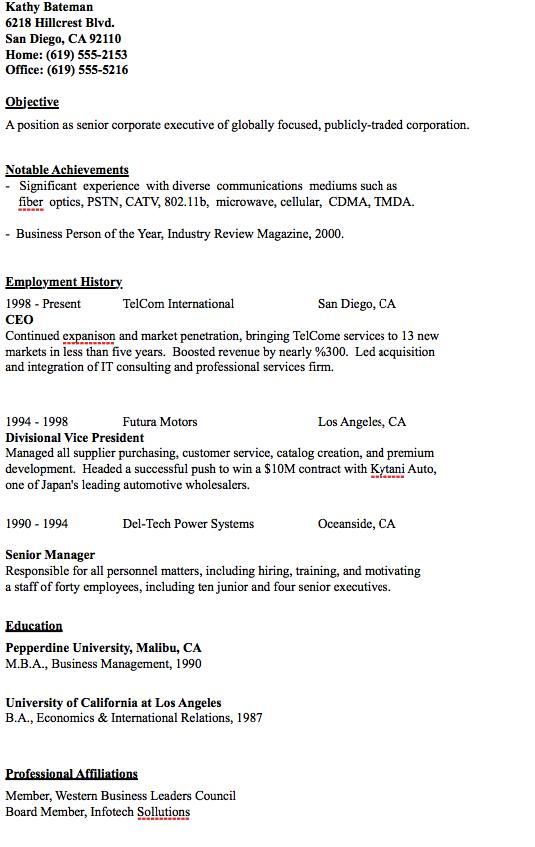 Sample Of Ceo Resume Resumesdesign Resume Template Examples Resume Sample Resume Templates