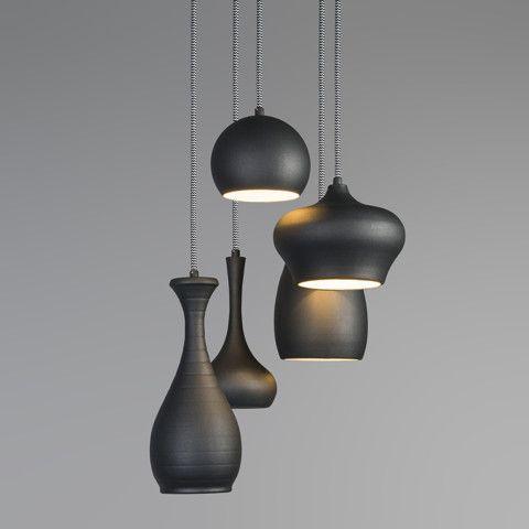 Hanglamp Drops 5 zwart - Keukenverlichting - Verlichting per ruimte ...