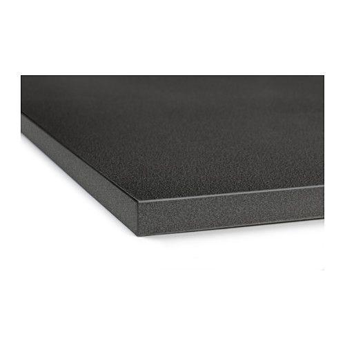 Ekbacken countertop black stone effect countertop for Ikea ekbacken countertop