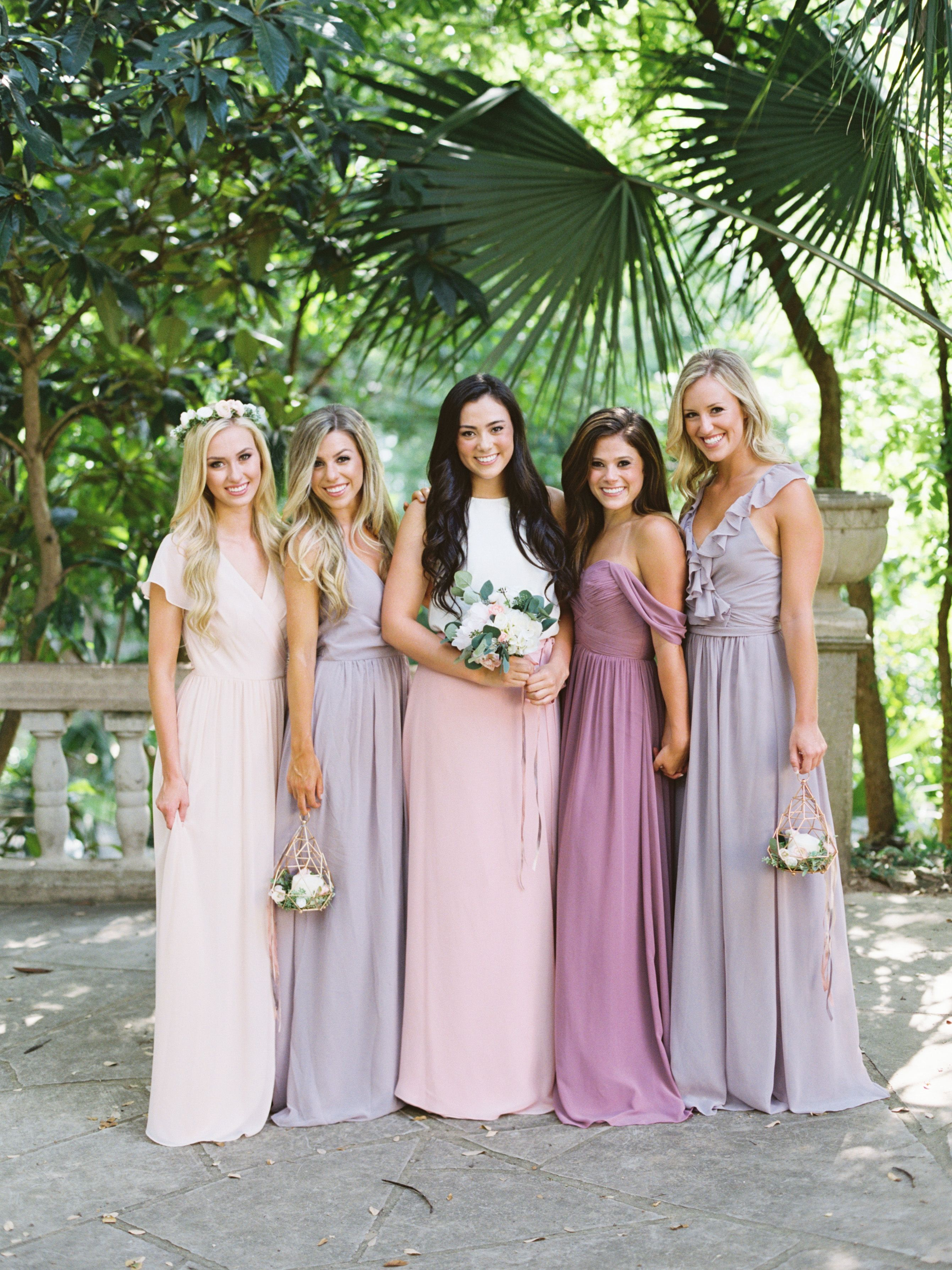 Blushes Pinks Neutrals Chiffon Color Story By Revelry Mix And Match Bridesmaids Dresses Separates