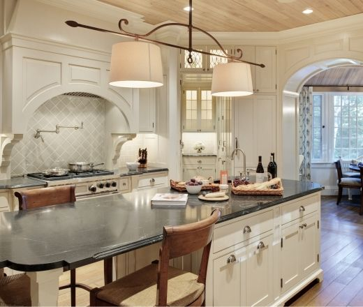 10 Foot Island With A Seamless Honed Soapstone Countertop Glave Holmes Architecture White Kitchen Remodeling Kitchen Remodel White Modern Kitchen