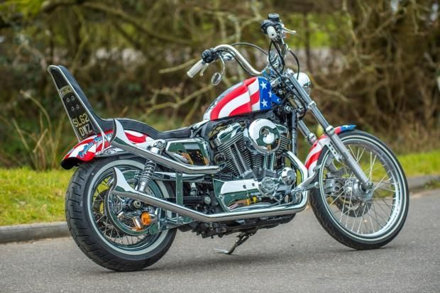 captain america 72 sportster by shaw speed custom on street rh pinterest com