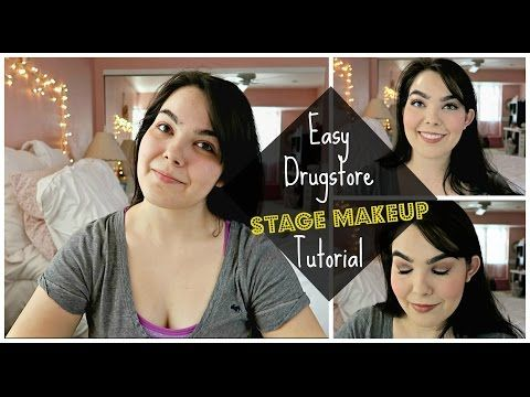 beginner stage makeup tutorial  drugstore  budget