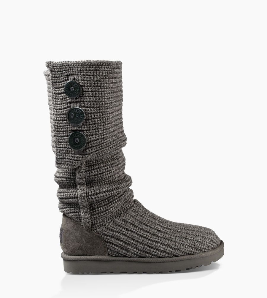 UGG® Women's Purl Cardy Knit Classic Boot Black