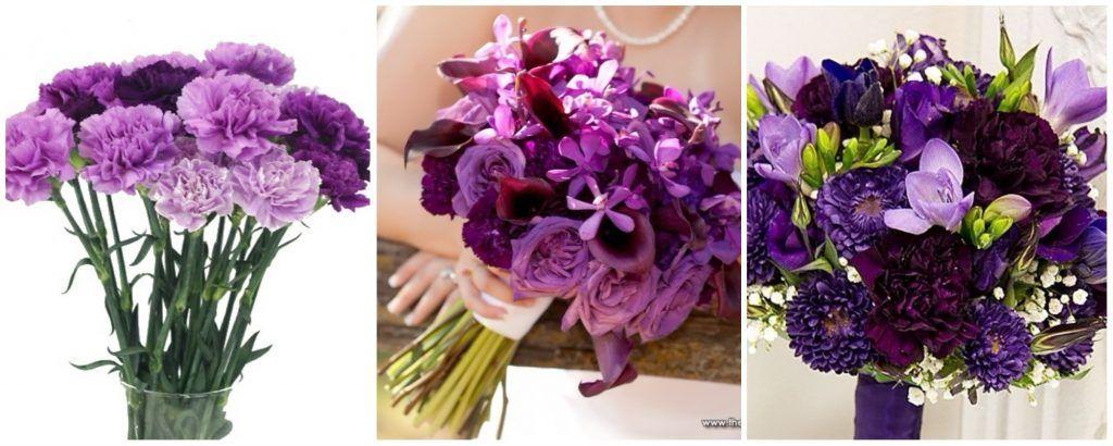 Buchete Cu Garoafe Si Garofite Mov Flori Mov Ultra Violet Vase