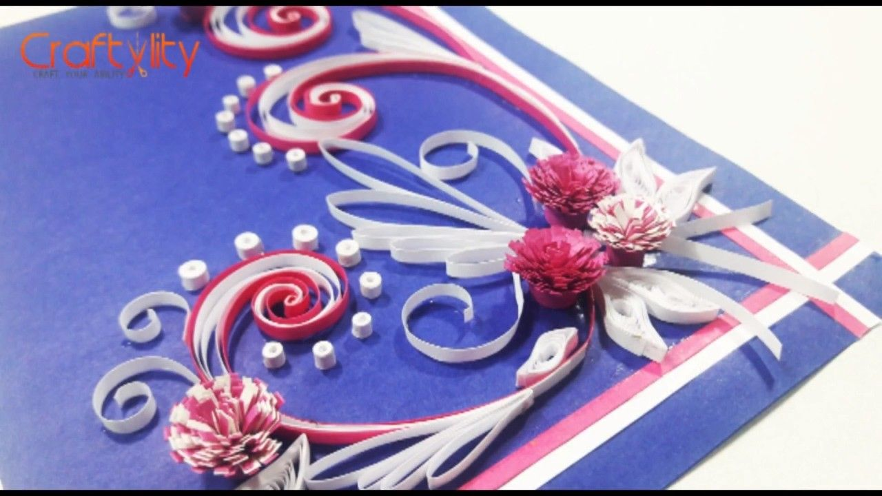 Diy paper quilling cards tutorial how to make paper quilling diy paper quilling cards tutorial how to make paper quilling greeting card ideas m4hsunfo