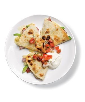 Quesadillas With Ham and Peppers