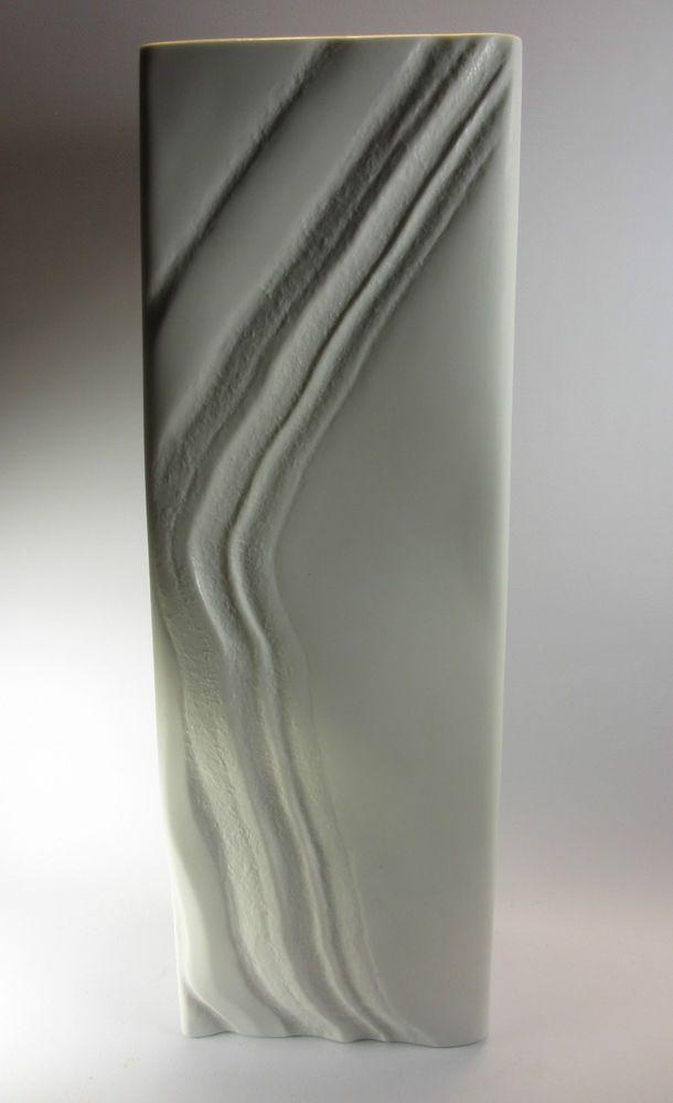 Rosenthal Vase 35 Cm Studio Line Martin Freyer Bisquit Mid