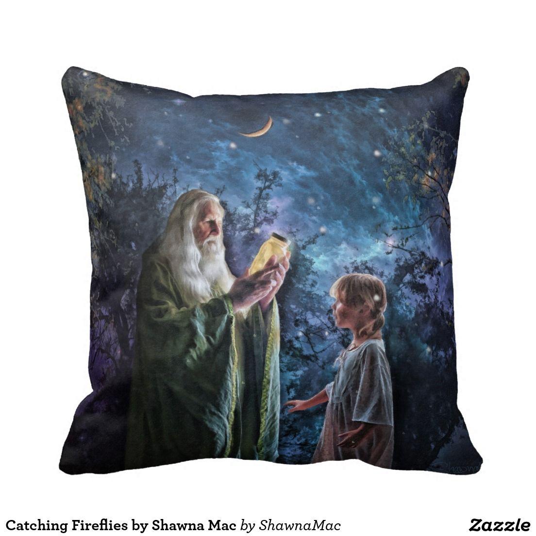 grandpa and little girl catching fireflies lumbar pillow childs rh pinterest ie