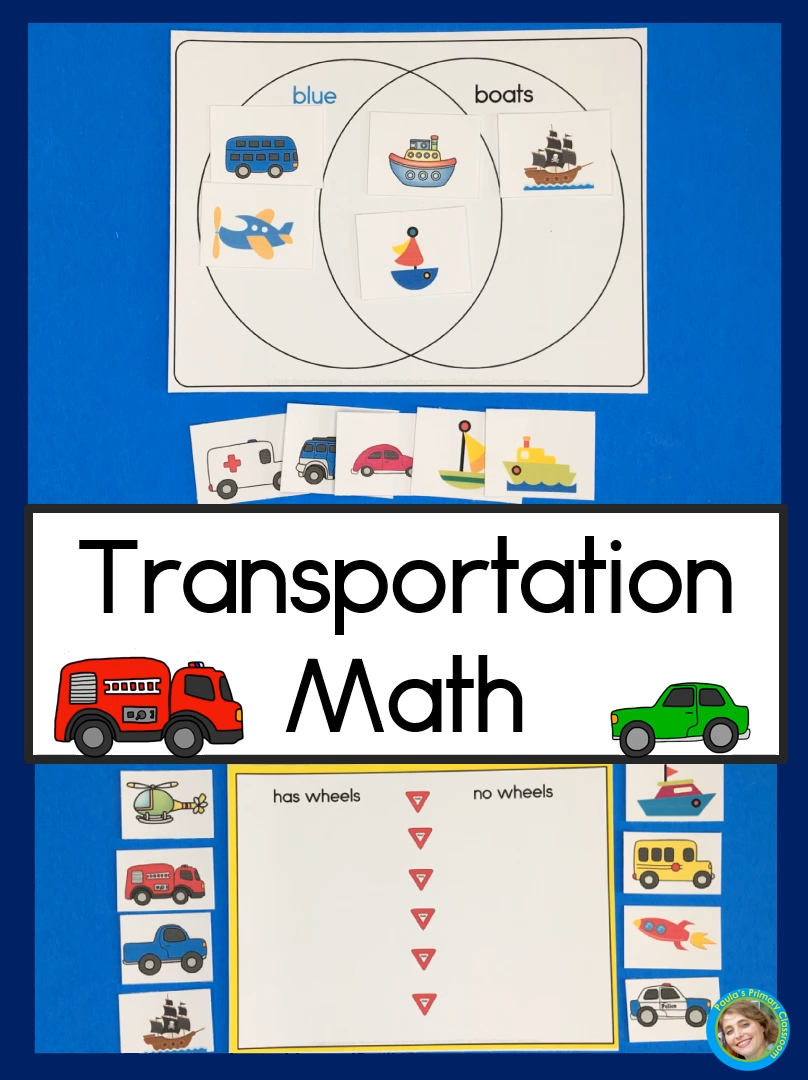 Transportation Math With Graphing Sorting Venn Diagrams And Measurement Video Video Transportation Preschool Math Activities Preschool Transportation Theme Preschool [ 1080 x 808 Pixel ]