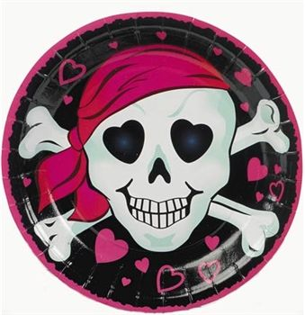 Cute Sweet 16 pink pirate plates - Sweet 16 Decorations #Sweet16 #PinkPirate #PirateTheme  sc 1 st  Pinterest & Pink Pirate Girl Plates | Sweet 16 Sweet 16 parties and Pirate theme