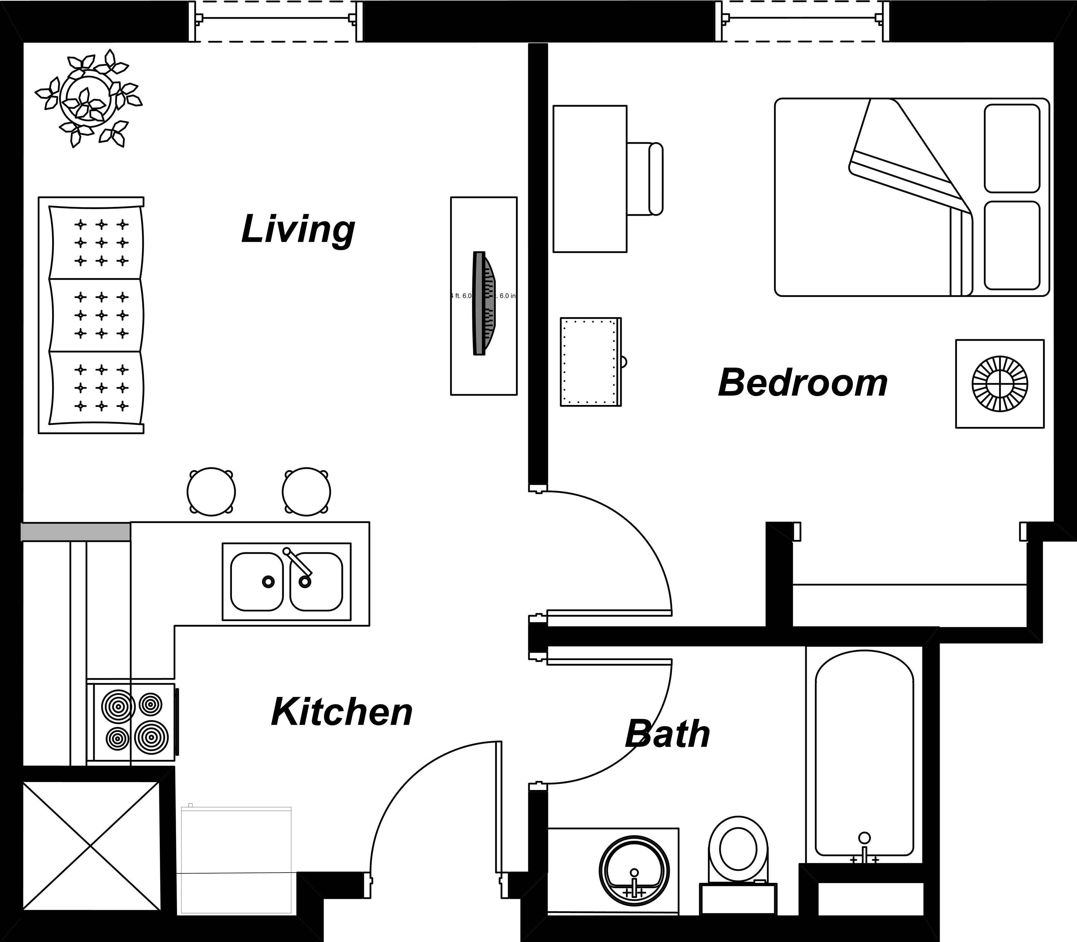 Apartment Attractive Studio Apartment Floor Layout Tiny Studio Apartment Floor Plans Studio Apartment Floor Plans Apartment Floor Plans Small Apartment Layout