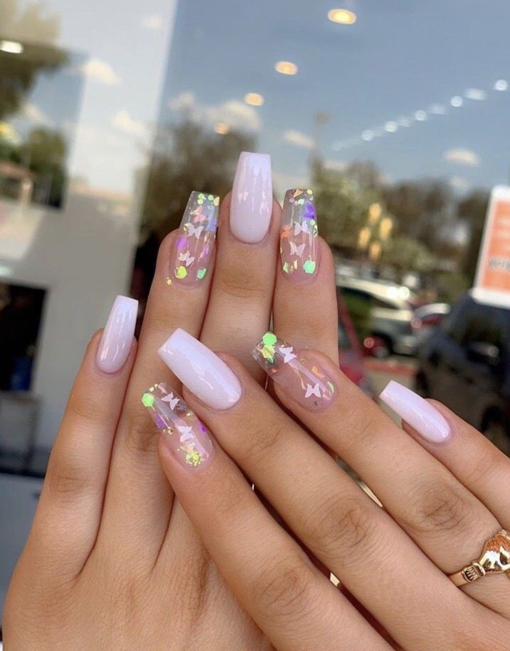 Pink Butterfly Nails Cute Acrylic Nails Best Acrylic Nails Pink Nails