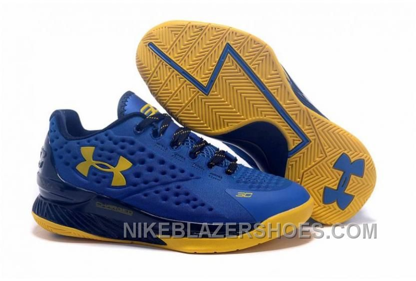 4243c7296725 Curry 1 Low Blue Gold Stephen Curry 1 Low Women Authentic JxK5a ...