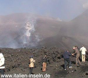 Vulkantour auf dem Vulkan -Etna - Ätna auf Sizilien 2008 http://www.italien-inseln.de/aetna/vulkantour-reisebericht.html