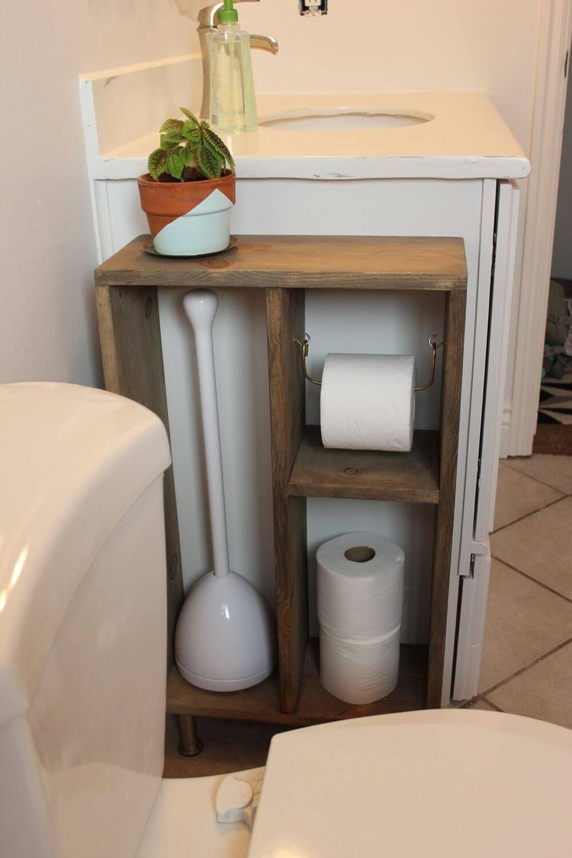 diy shelf ideas for bathroom%0A Toilet