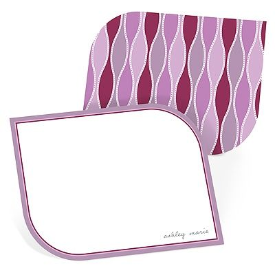 Trendy Twining in Purple - Personalized Stationery