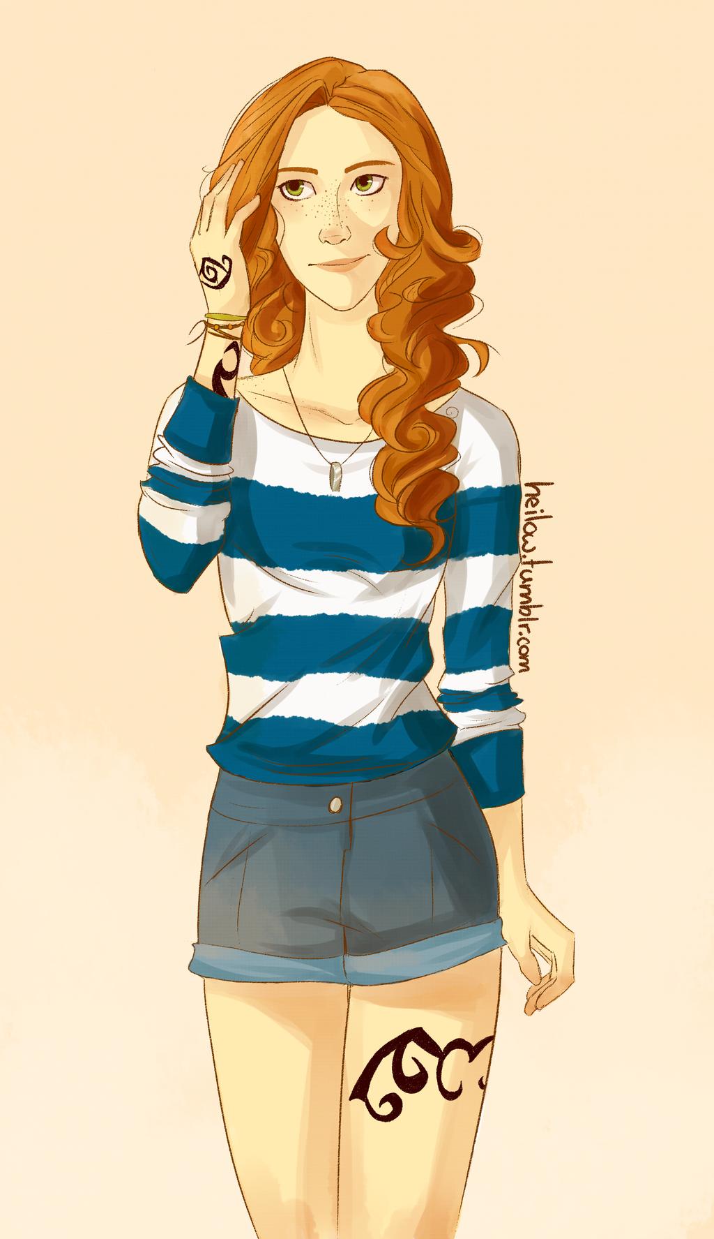 Clary Fray by heilow http://heilow.deviantart.com/art/Clary-443857744