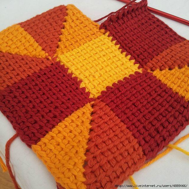 Тунисское вязание. | Мотивы и детали. | Pinterest | Ganchillo ...