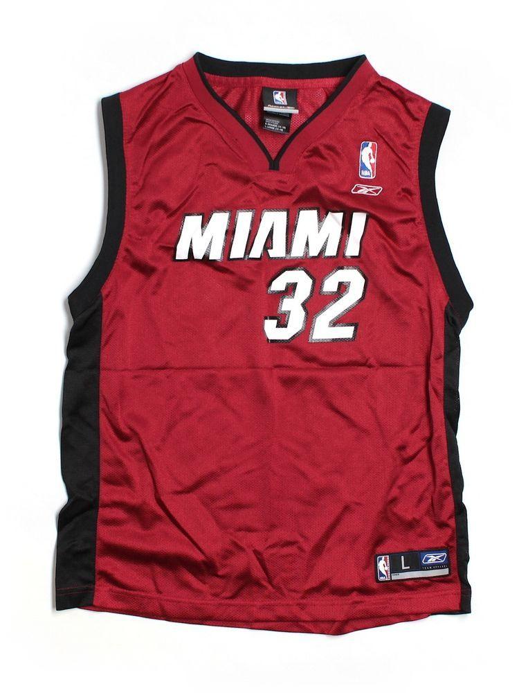 boy youth miami heat 32 shaquille o neal basketball jersey size l rh pinterest com