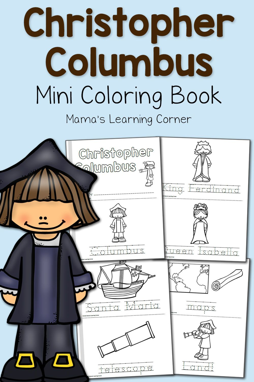 Christopher Columbus Coloring Pages | Pinterest | Christopher ...