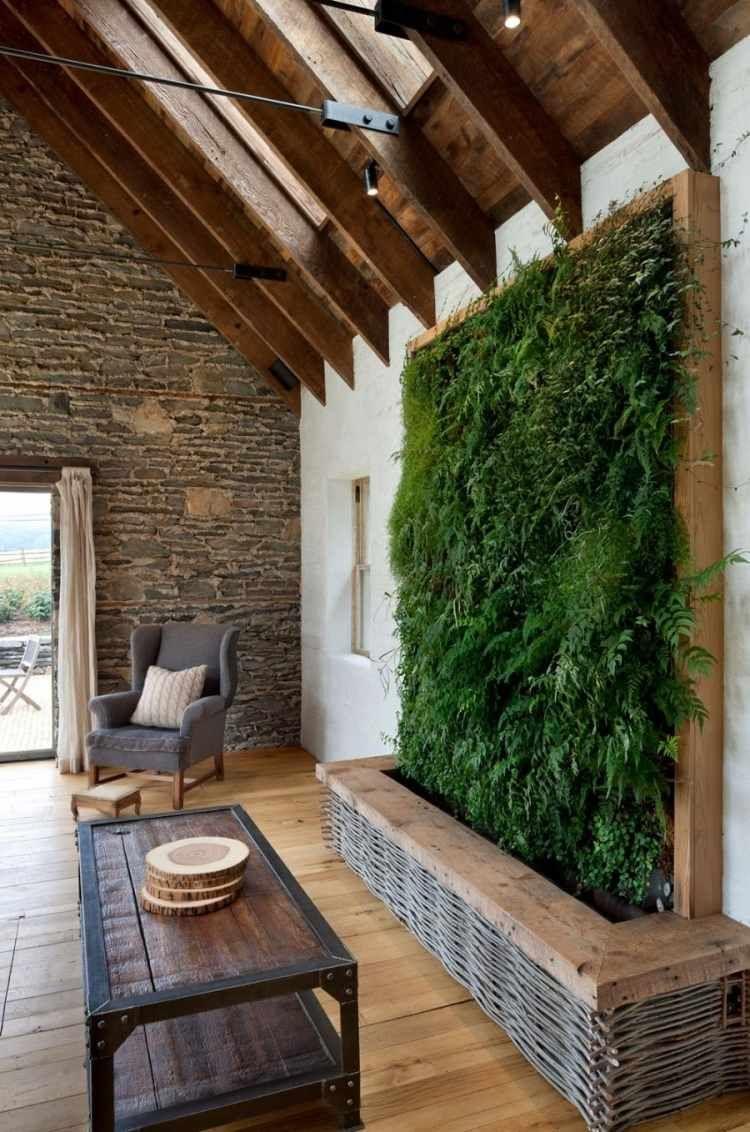 Mur v g tal int rieur en 80 id es pour la maison - Mur de pierre interieur ...