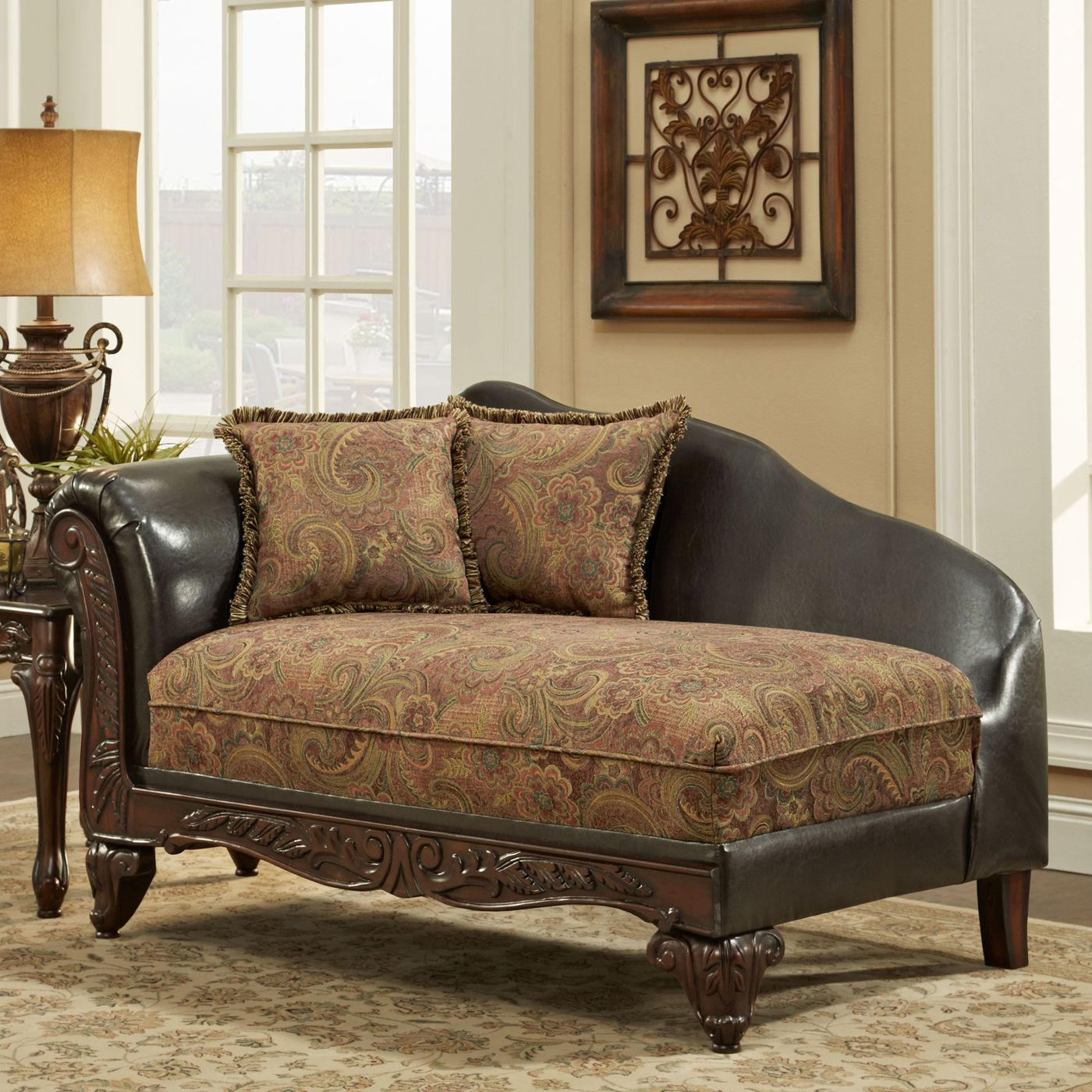 Shop Chelsea Home 726300-CH Arlene Chaise at ATG Stores ...
