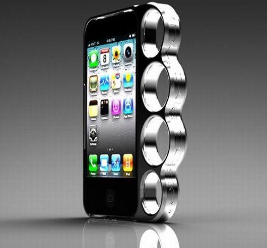 iPhone +puño americano = la carcasa más dura