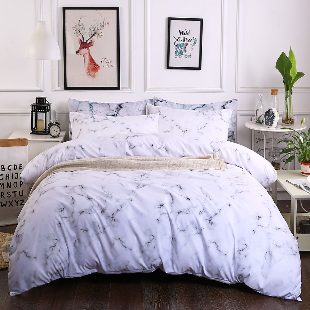 Modern Marble Microfiber Duvet Cover Sets Twin Queen King Size Quilt Soft Boho Bedding Set Price 69 90 Free Shipping Bohemian