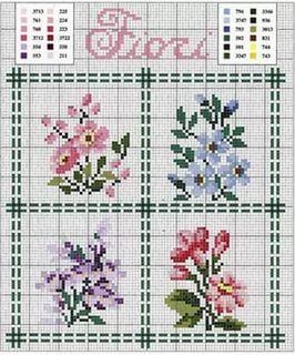 вышивка мелких цветов крестиком схемы: 25 тыс изображений найдено в Яндекс.Картинках