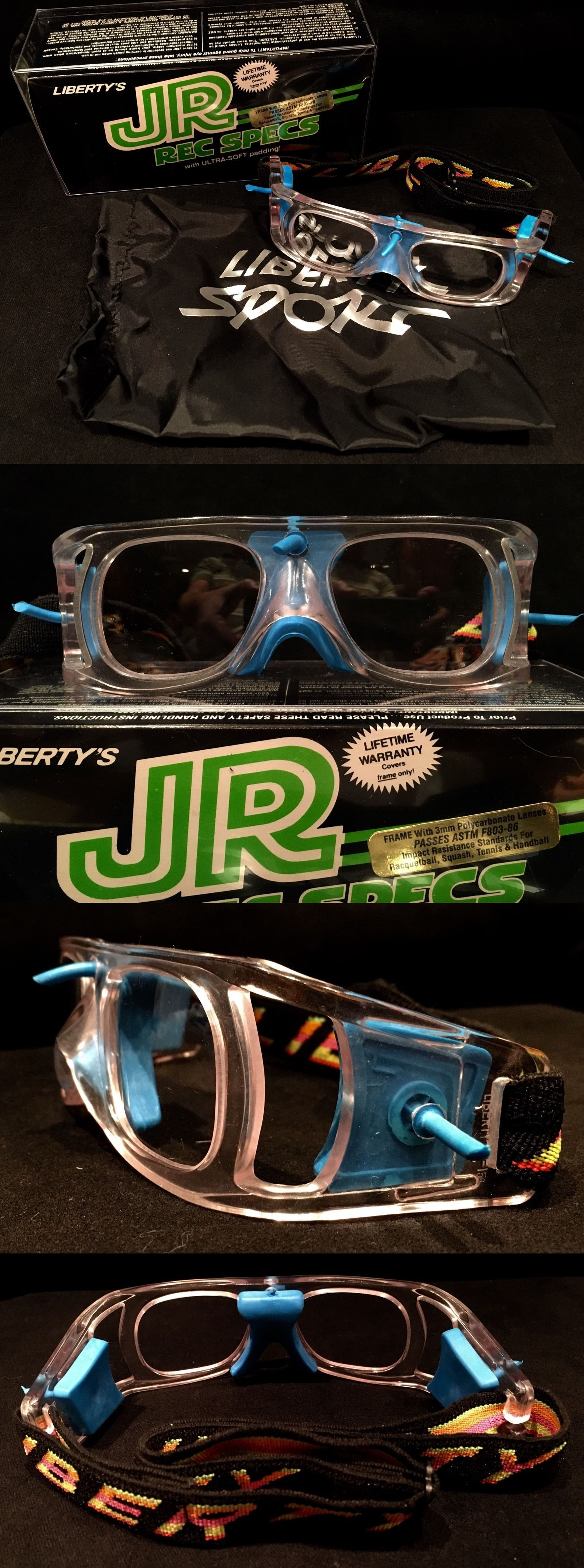 Protective Gear 158969: Kids Liberty Protective Goggles Junior Rec Specs Neon Blue Size Small -> BUY IT NOW ONLY: $125 on eBay!