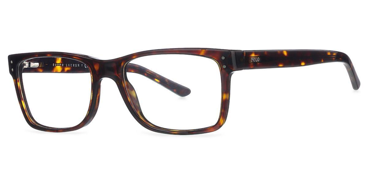 Frames | Men\'s Polo Square Full Rim Glasses in Tortoise - PH2057 ...