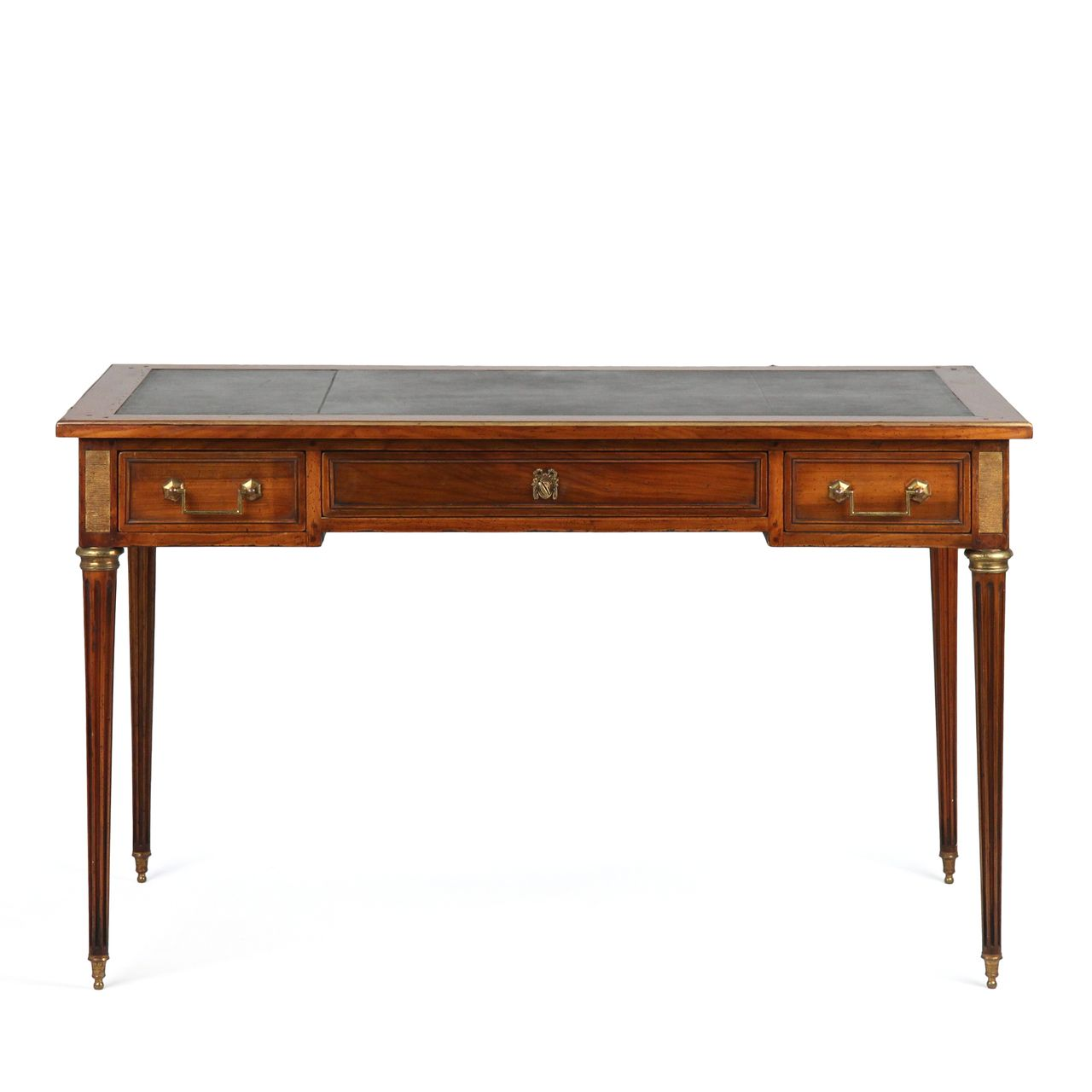 French Louis XVI Style Antique Leather Top Writing Desk or Table, c. 1920-40 - French Louis XVI Style Antique Leather Top Writing Desk Or Table