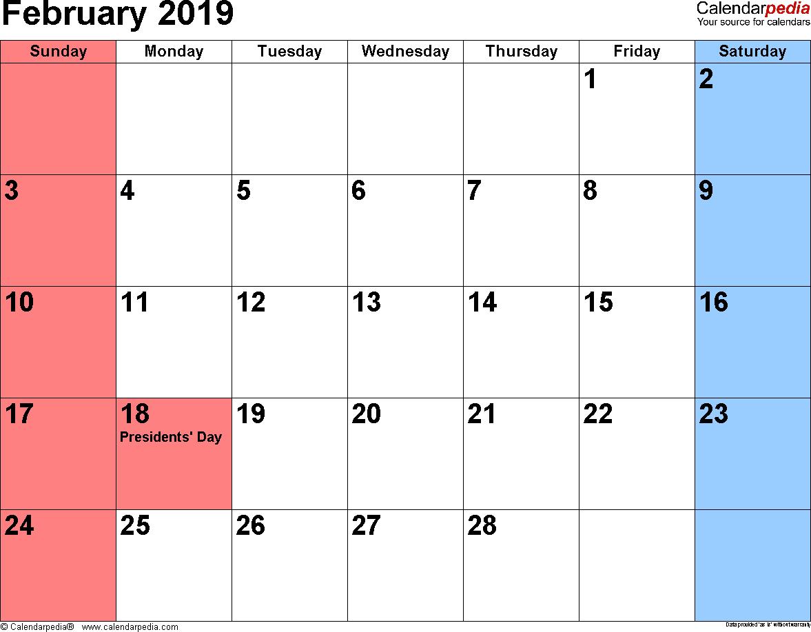 printable calendar february 2019 pdf free printable february 2019 rh pinterest com
