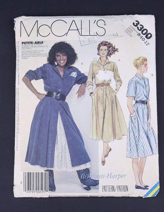 80\'s Dress & Petticoat Sewing Pattern in my Etsy shop https://www ...