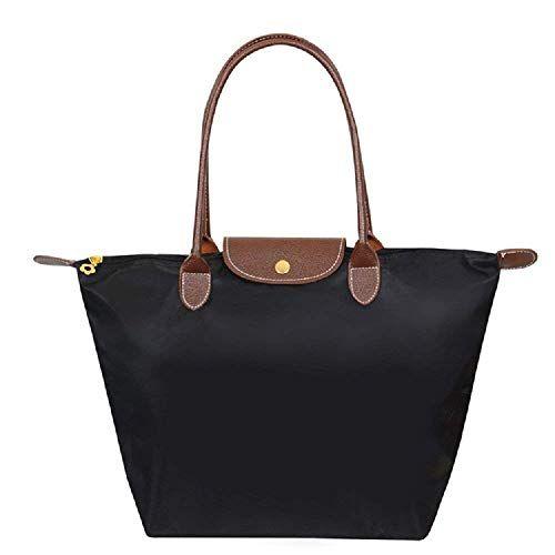 5fca17fbc5 ZhengYue Cabas en Oxford Pour Femme Sac à Bandoulière de Pliage Grande  Capacité Sac a Main Sac de Shopping pour Femme Black M