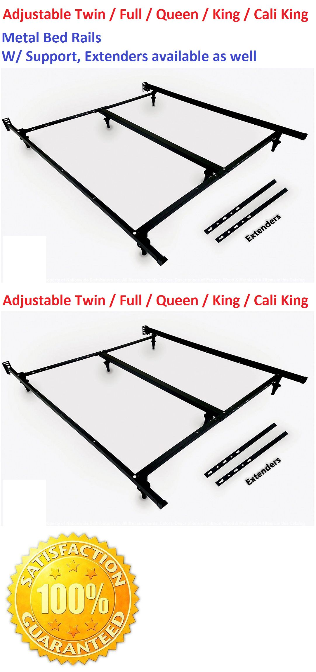 Bed and Waterbed Accessories 66737: Metal Bed Frame Rails Bed ...