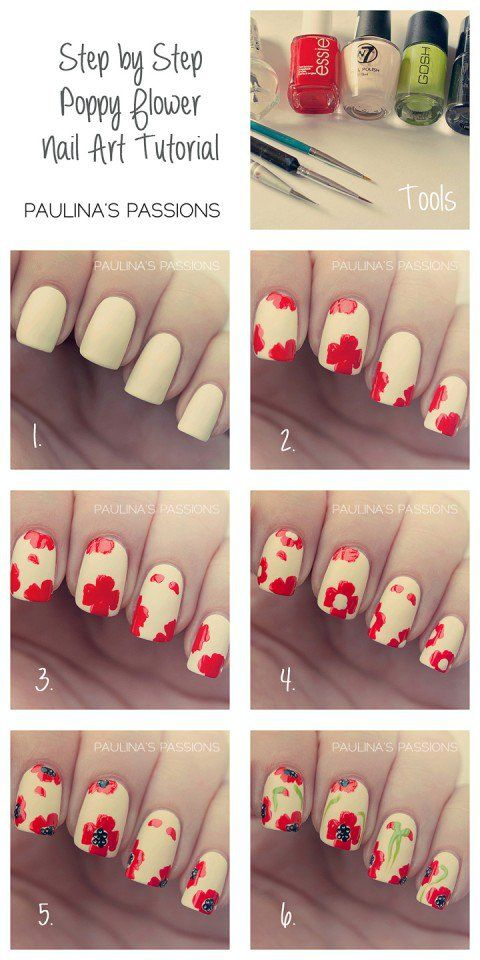 16 Floral Nail Tutorials To Consider Out This Spring Nail Design